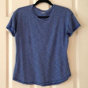 Madewell Cotton Crewneck Tee in blue stripe